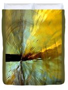 Point Of Impact In Copper And Green2 Duvet Cover