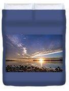 Point Of The Sunset Duvet Cover