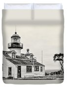 Point Pinos Lighthouse By Diana Sainz Duvet Cover