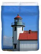 Point Robinson Light House Duvet Cover