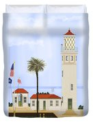 Point Vicente Lighthouse Duvet Cover by Anne Norskog