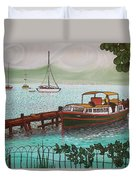 Pointe-a-pitre Martinique Across From Fort Du France Duvet Cover