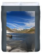 Pointe Rousse Lake - Vertical Composition Duvet Cover