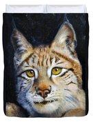 Pointed Advantage - Siberian Lynx Duvet Cover