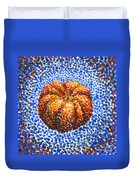 Pointillism Pumpkin Duvet Cover