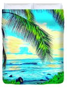 Poipu Sunrise Duvet Cover