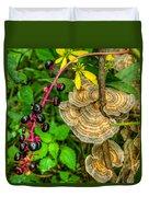 Poke And Bracket Fungi Duvet Cover