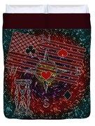 Poker Addiction Digital Painting Duvet Cover