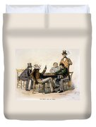Poker Game, 1840s Duvet Cover