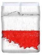Poland Painted Flag Map Duvet Cover