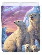 Polar Bear Family Duvet Cover