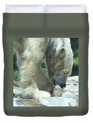 Polar Bear Feeding Duvet Cover