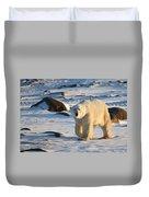 Polar Bear On The Tundra Duvet Cover