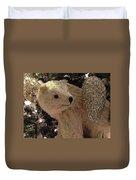 Polar Bear With Ornaments Duvet Cover