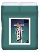 Polaroid Transfer Motel Duvet Cover