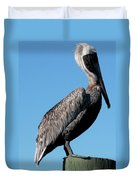 Pole With Pelican  Duvet Cover