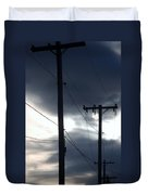 Poles And Sunsets Duvet Cover