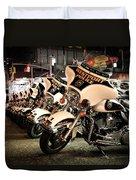 Police Bikes In New York Duvet Cover