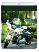 Police - Police Motorcycle Duvet Cover
