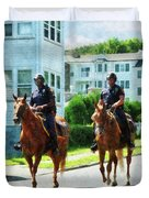 Police - Two Mounted Police Duvet Cover
