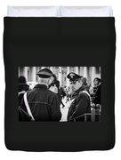 Policemen In Rome Duvet Cover