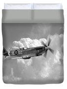 Polish Spitfire Ace Bw Duvet Cover