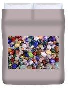 Polished Gemstones Duvet Cover