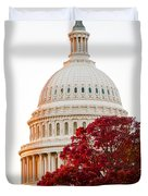 Politics Seeing Red Duvet Cover by Greg Fortier