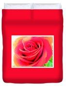 Polka Dot Beautiful Rose Duvet Cover