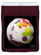 Polka Dot Cupcake Baseball Square Duvet Cover