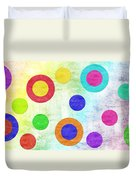 Polka Dot Panorama - Rainbow - Circles - Shapes Duvet Cover by Andee Design