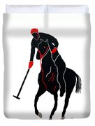 Polo Player Duvet Cover
