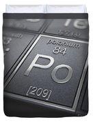 Polonium Chemical Element Duvet Cover