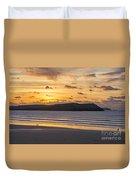 Polzeath Sunset 4 Duvet Cover