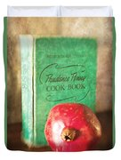 Pomegranate And Vintage Cook Book Still Life Duvet Cover