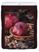 Pomegranates And Almonds Duvet Cover