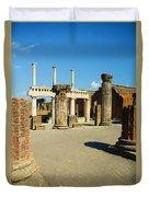 Pompeii In Ruins Duvet Cover