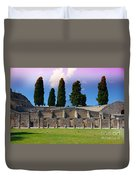 Pompeii Walls And Trees Duvet Cover