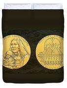 Ponca Tribe Code Talkers Bronze Medal Art Duvet Cover