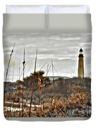 Ponce Inlet Lighthouse From The Dunes Duvet Cover