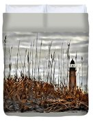 Ponce Inlet Lighthouse In Sea Grass Duvet Cover