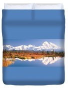 Pond, Alaska Range, Denali National Duvet Cover
