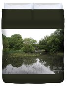 Pond And Bridge Duvet Cover