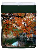 Fall At Lost Maples State Natural Area Duvet Cover