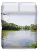 Pond At Norfolk Botanical Garden 9 Duvet Cover