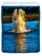 Pond Fountain Duvet Cover by Robert Bales