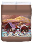 Pond Hockey 1 Duvet Cover