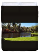 Pond In A Garden, Middleton Place Duvet Cover