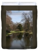 Pond In The Park Duvet Cover