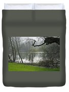 Pond Near Home Farm - Ilam Duvet Cover